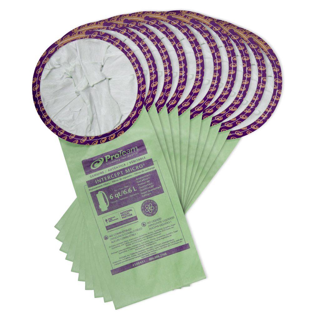 ProTeam 107377 ProGen 12//15 Intercept Micro Filter Bags 10//PK